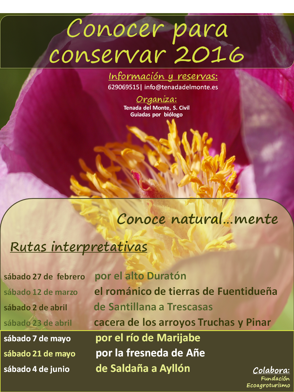 cartel conocer para conservar 2016