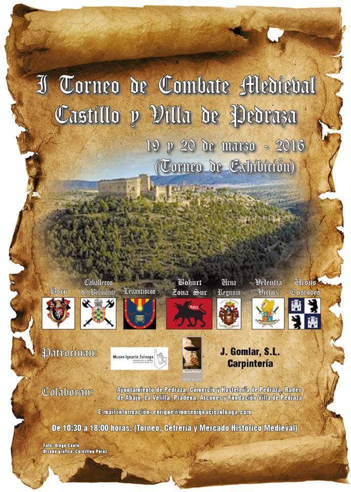 I torneo de combate medieval castillo y villa de pedraza