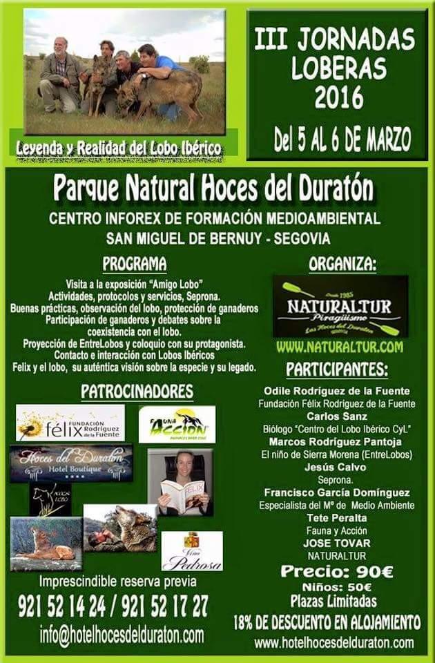 III jornadas loberas. Parque natural Hoces del Río Duratón