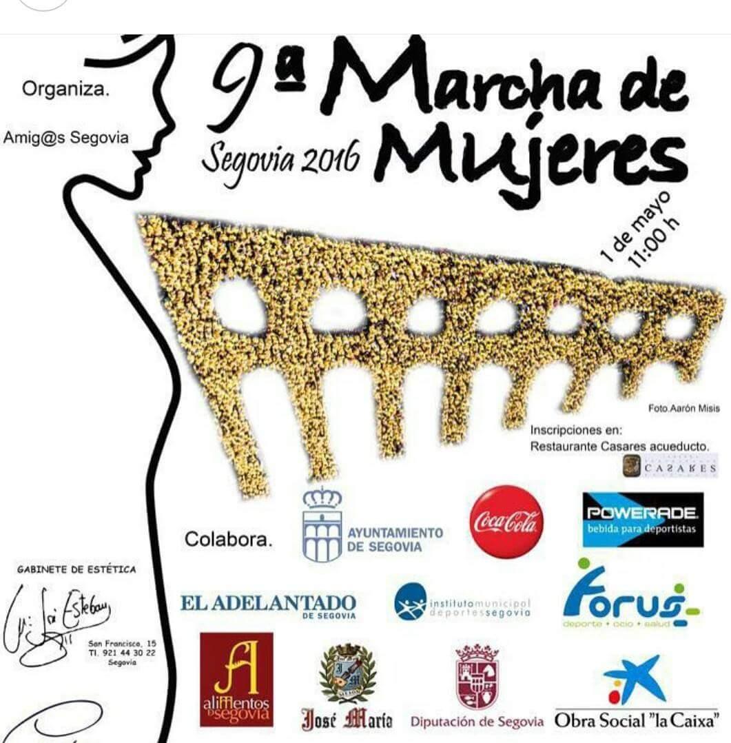 9º marcha de mujeres. segovia 2016