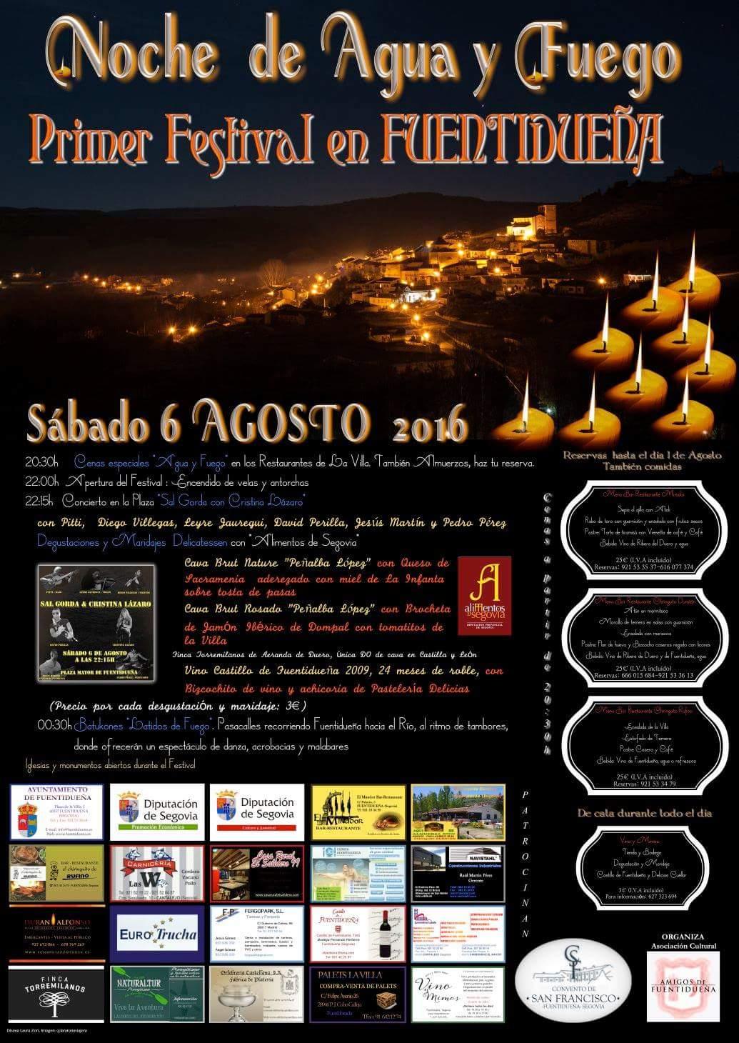 Noche de agua y fuego. Primer festival de Fuentidueña.