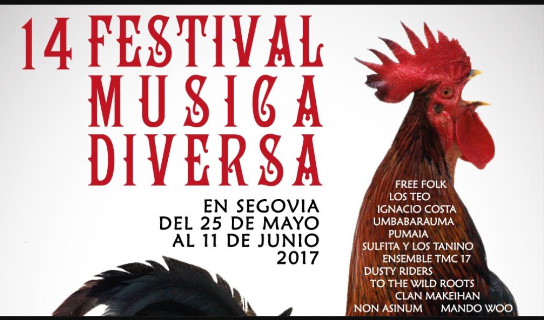14 festival de música diversa. mayo junio 2017.Segovia.