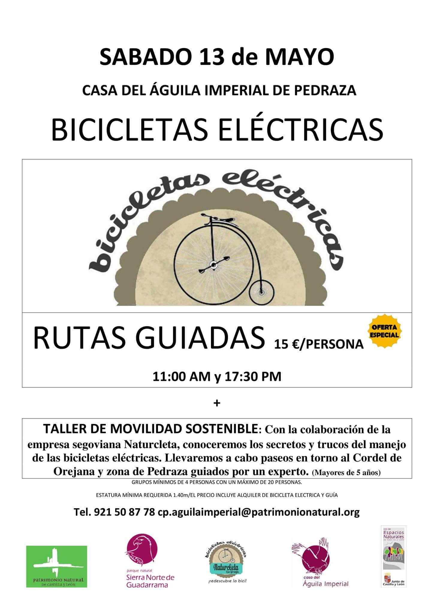 rutas guiadas bicicletas eléctricas. pedraza. Segovia.