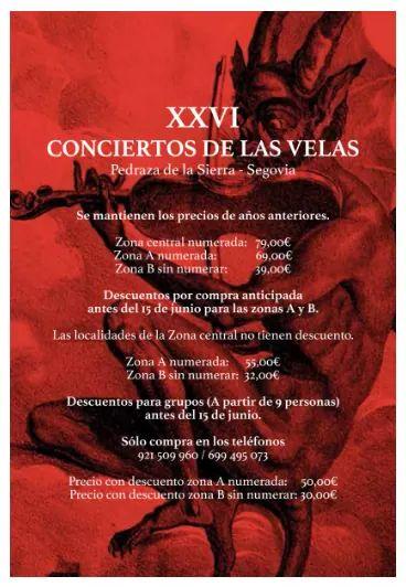 Conciertos de las velas de Pedraza 2017. Segovia.