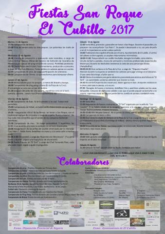Fiestas de San Roque. El Cubillo 2017