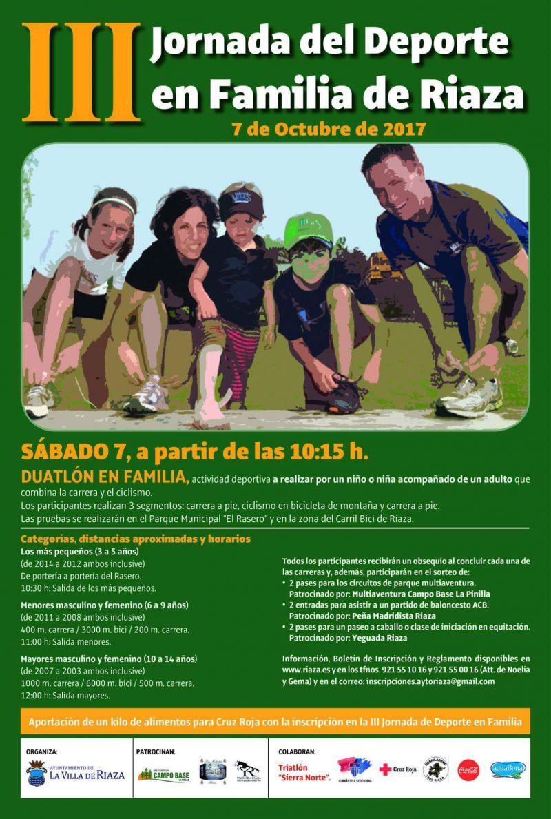 III Jornada del deporte en Familia en Riaza. Segovia.