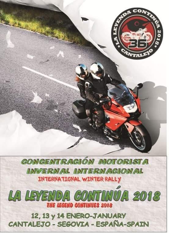 La leyenda continua 2018. Cantalejo. 36 Edición. Moteros. Motos. Concentración invernal. Año nuevo motero.