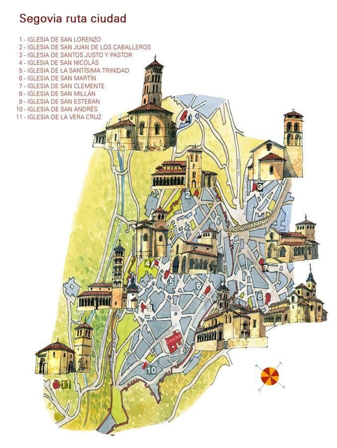 Románico de la ciudad de Segovia. Iglesias de Segovia.
