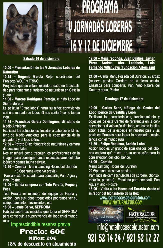 V jornadas loberas. Hoces del Río Duratón. Segovia.