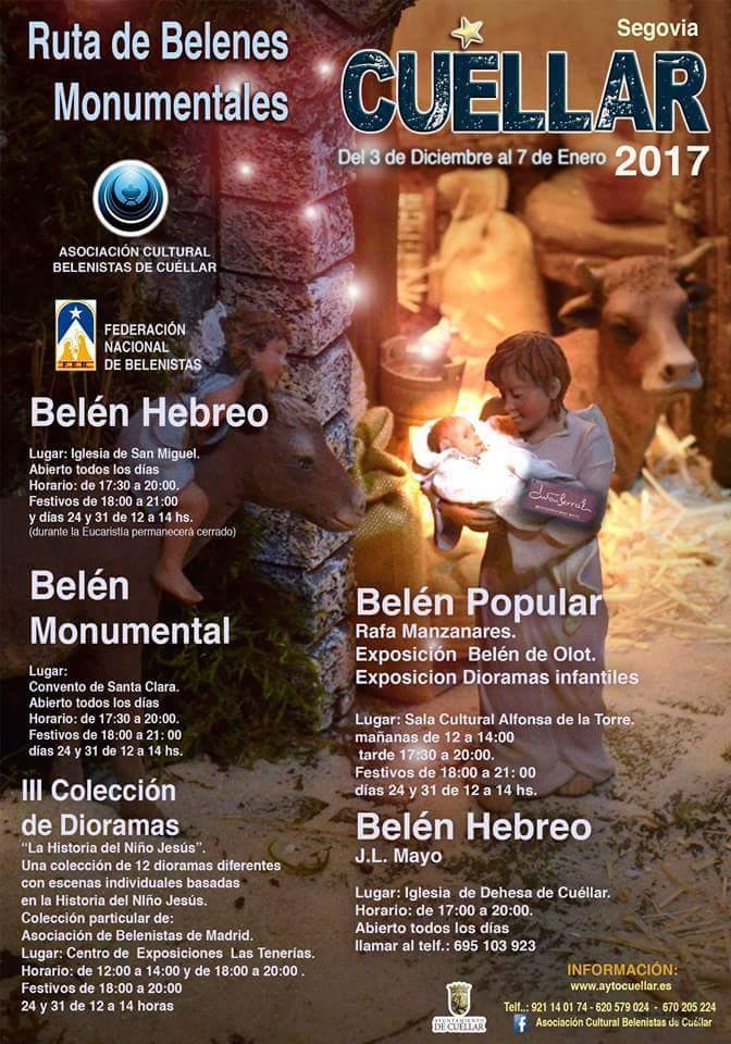 Belenes monumentales de Cuellar. Navidad 2017 -18.
