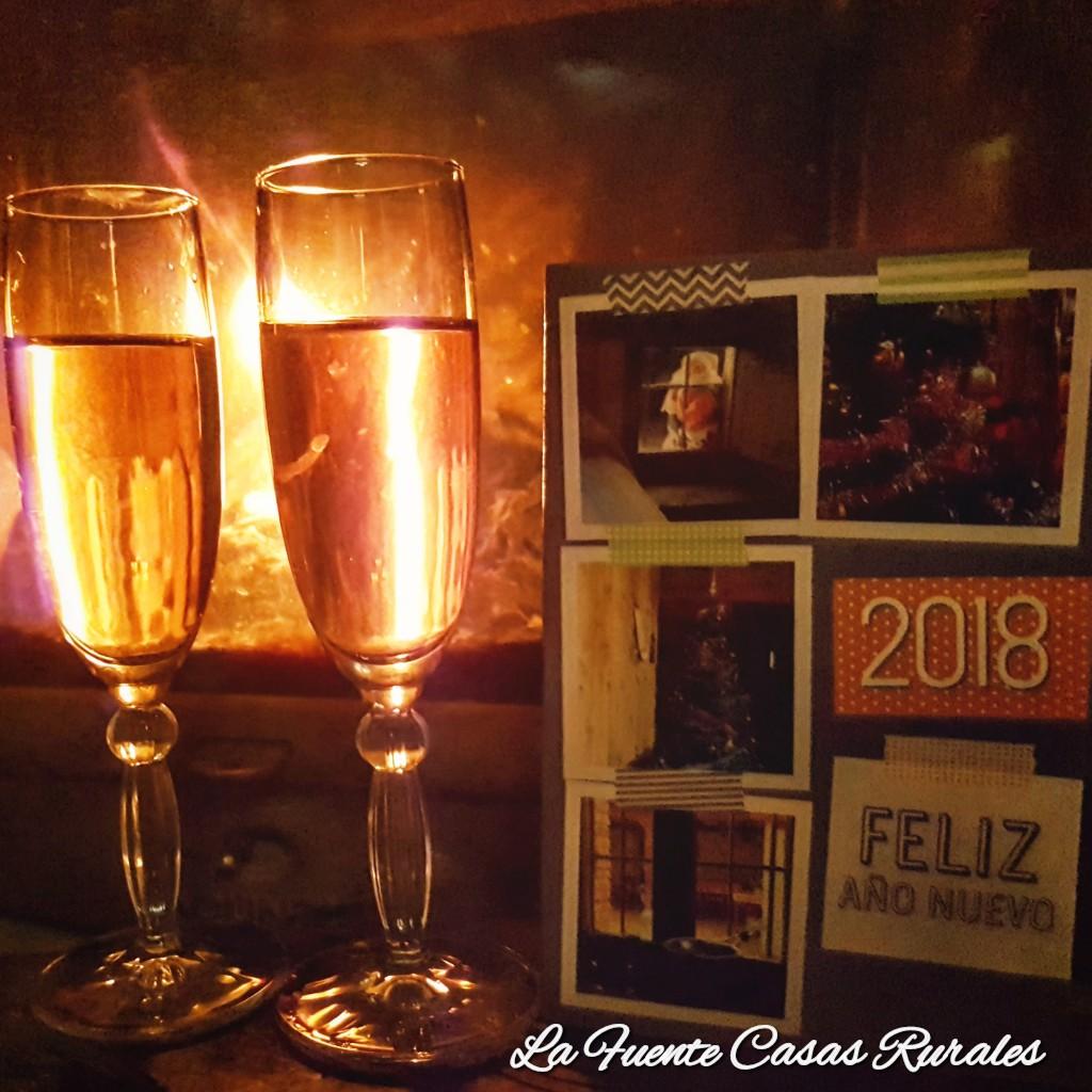 Feliz año nuevo 2018. Casas rurales La Fuente.