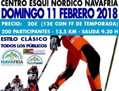 – V Marcha Popular de Esquí de Fondo de Navafría.