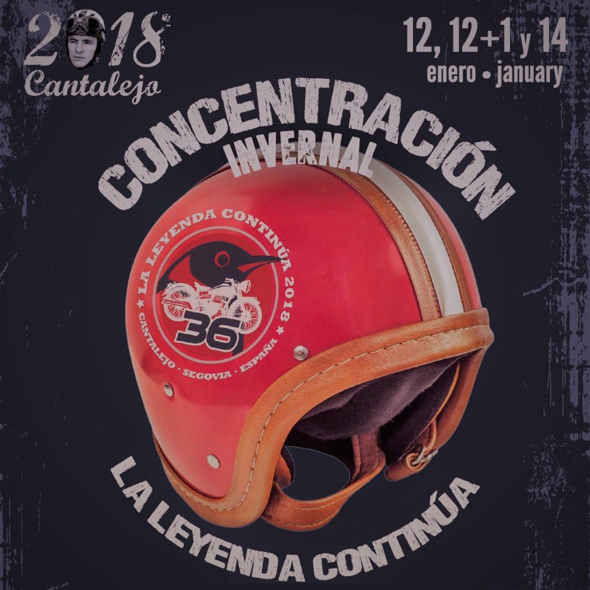 La leyenda continua 2018. Cantalejo. Año nuevo motero 2018