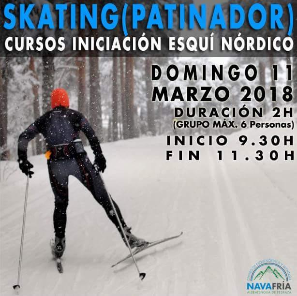 Curso esquí de Fondo. Segovia. Nieve.