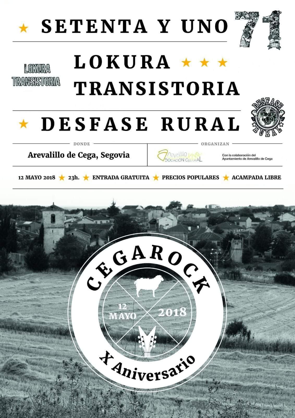 Cegarock 2018. Arevalillo de Cega. Segovia.