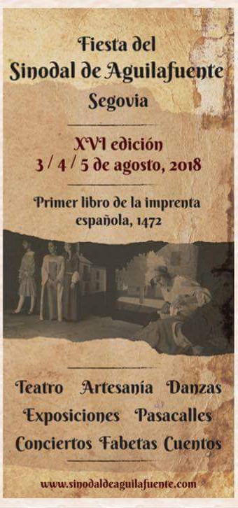 Fiesta del Sinodal de Aguilafuente 2018. XVI edición