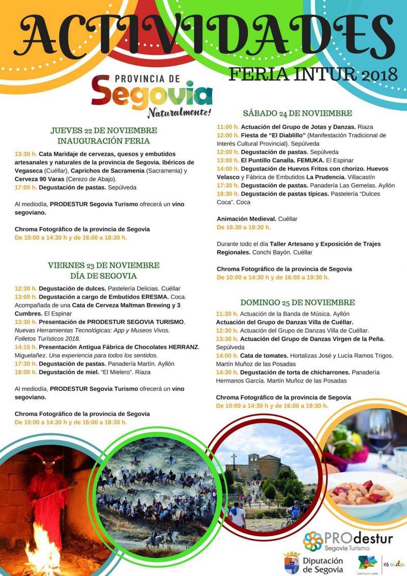 Feria intur 2018. Actividades en Segovia.