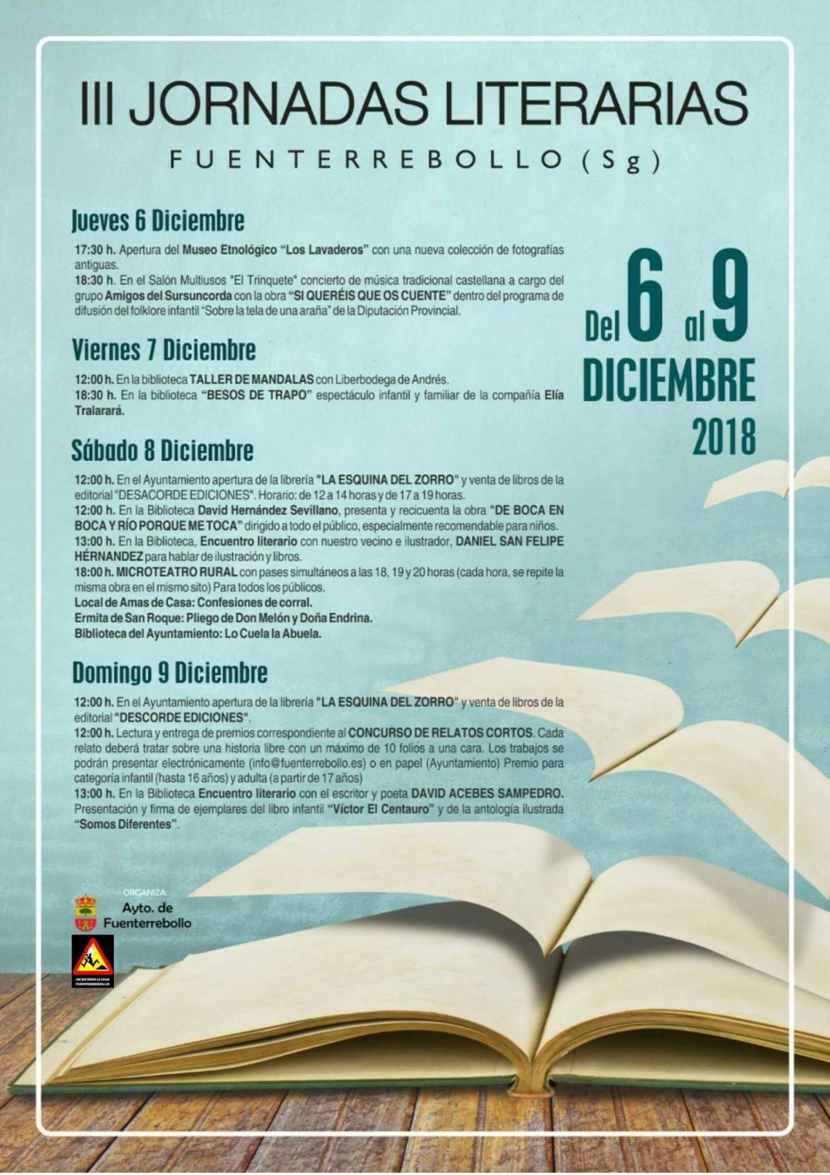 III Jornadas literarias. Fuenterrebollo 2018.