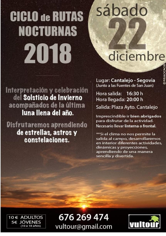 Rutas nocturnas 2018. Cantalejo.