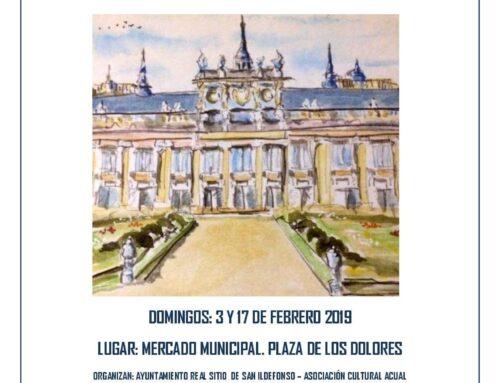 – Mercadillo en el Real Sitio de San Ildefonso.