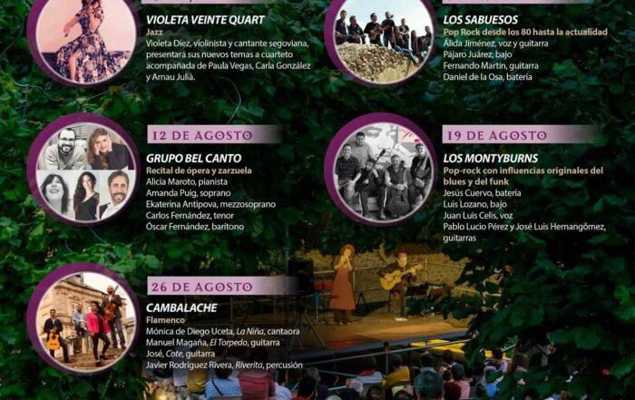 Conciertos de verano. Segovia.