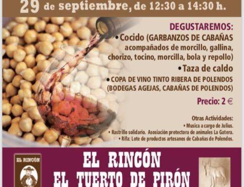 – XVII Degustación de garbanzo y vino en » El Ricón del Tuerto Pirón»