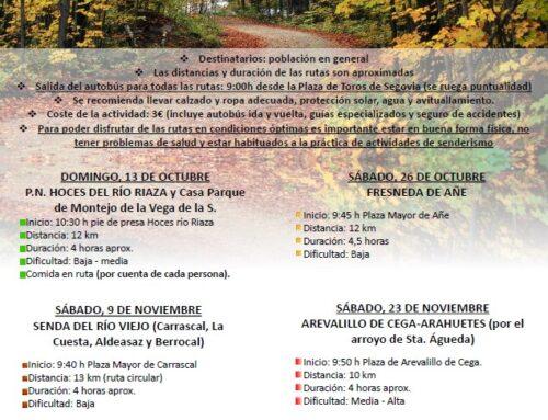 – Rutas guiadas en la naturaleza. Otoño 2019. Segovia.