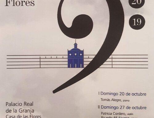 – XI Festival de Otoño. Música en la casa de las Flores.