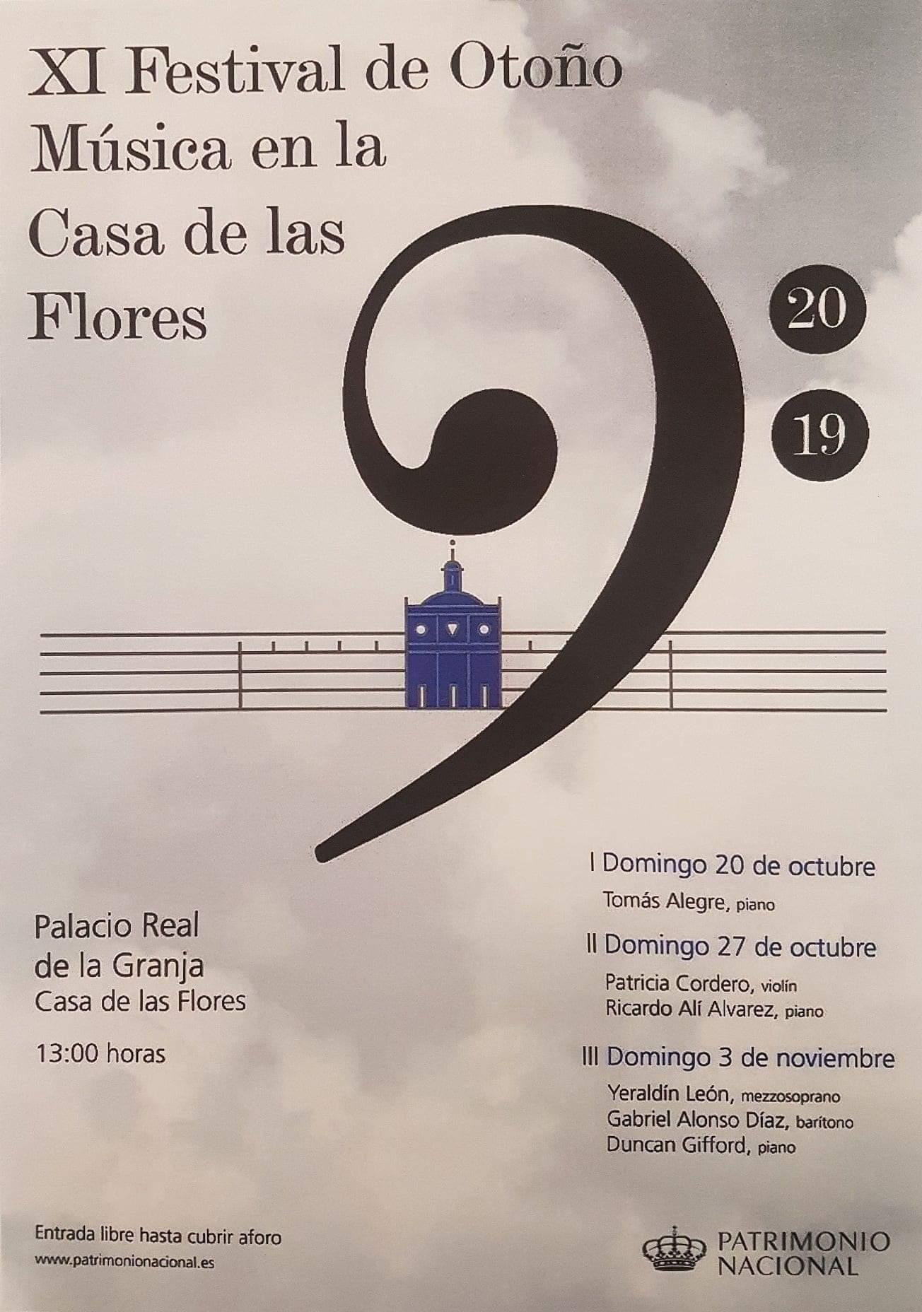 XI Festival de Otoño. Música en la casa de las Flores.