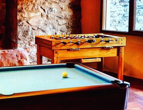 – Nueva sala de juegos en la casa rural La Fuente.