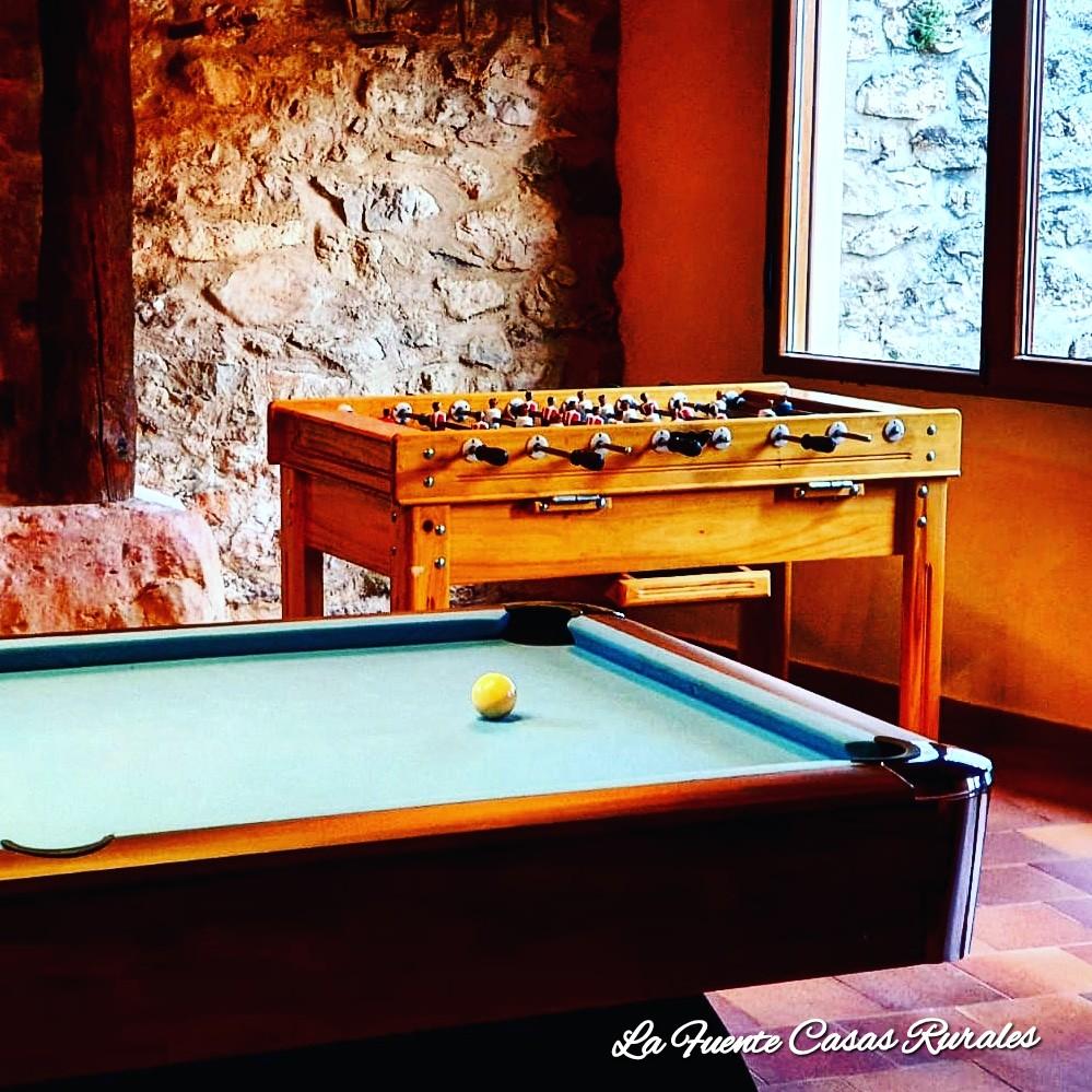 Nueva sala de juegos en la casa rural La Fuente