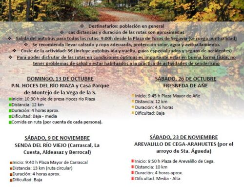 – Ruta Arevalillo de Cega – Arahuetes.