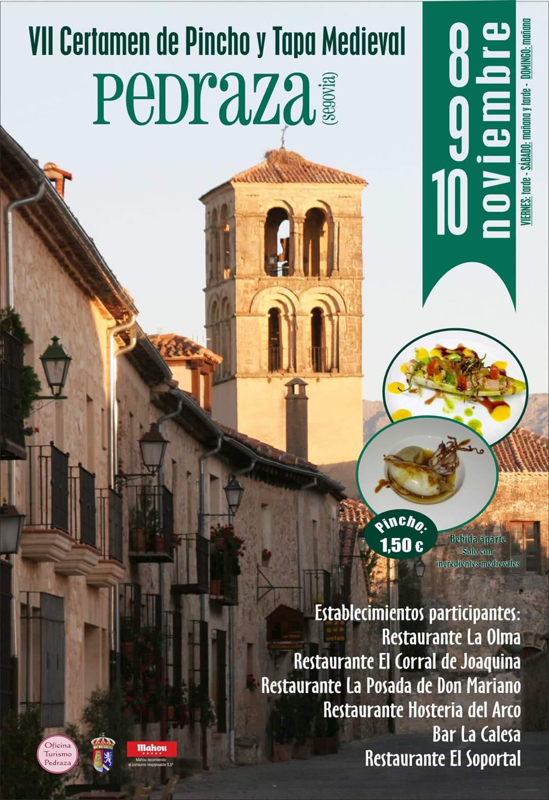 VII Certamen del pincho y tapa medieval en Pedraza