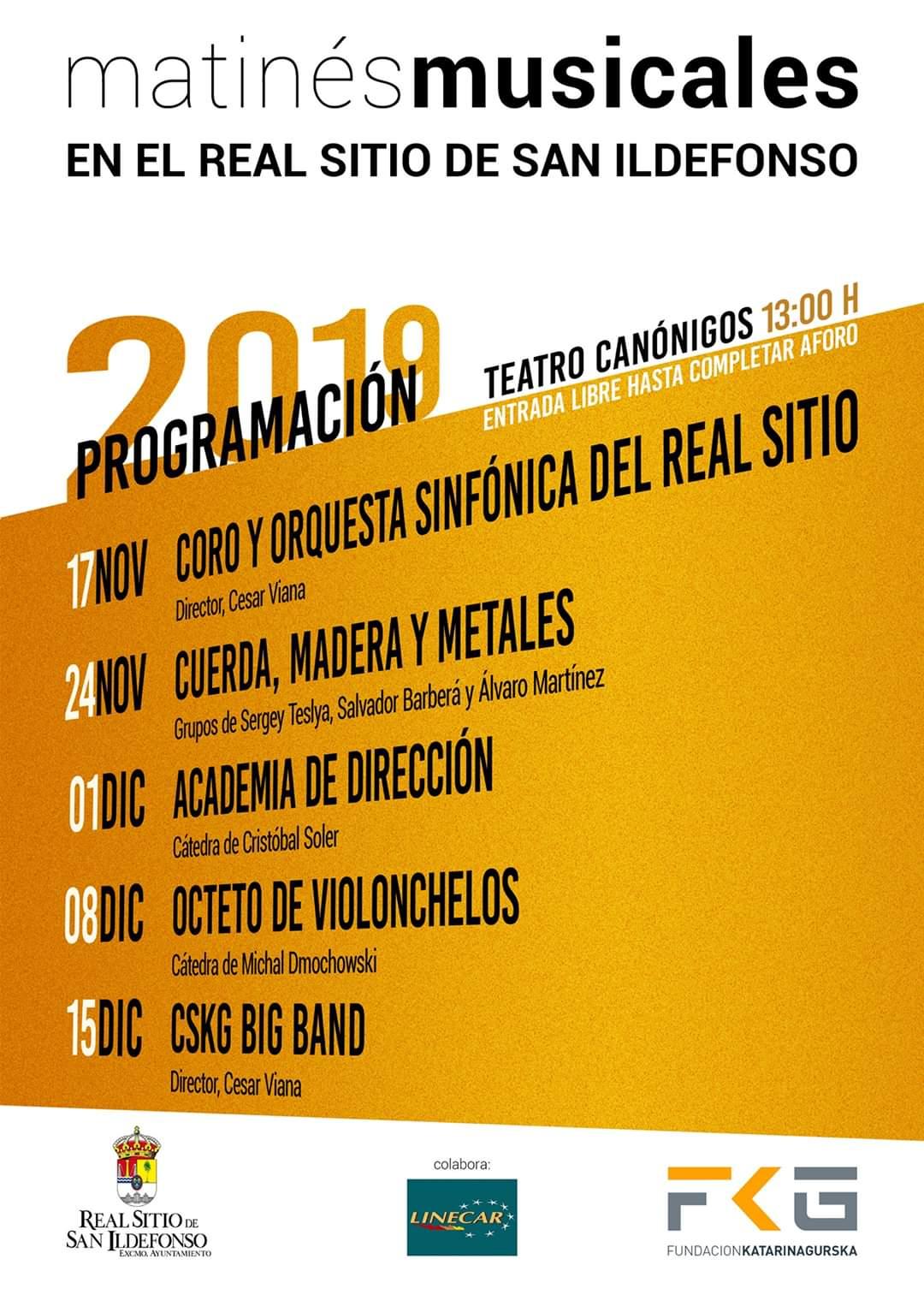 Matinés Musicales en el Real Sitio de San Ildefonso