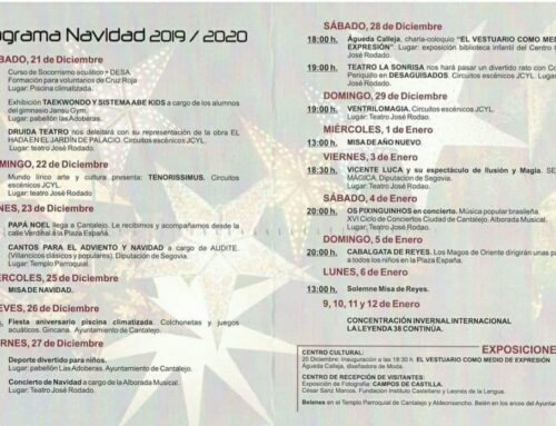 – Navidad 2019/2020 Cantalejo. Segovia. Programa de actividades.