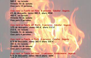 ofertas enero 2020 casas rurales Segovia