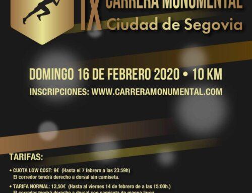 – IX Carrera Monumental Ciudad de Segovia.