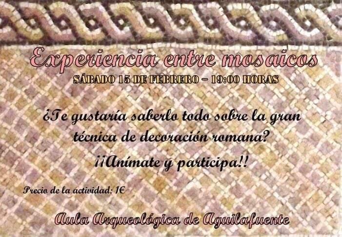 Experiencia entre mosaicos. Aula Arqueológica de Aguilafuente.