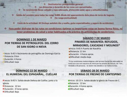 – Rutas de senderismo «Camina por la provincia en invierno».