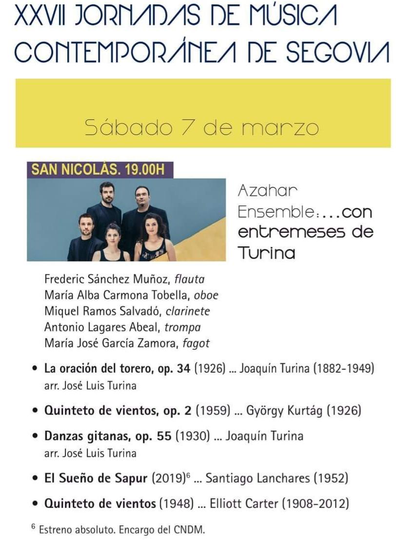 XXVII Jornadas de Música Contemporánea de Segovia