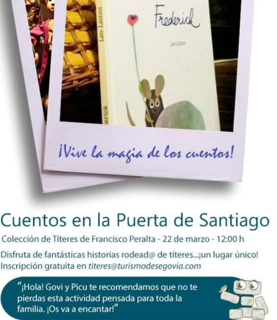 ¡Comenzamos! El domingo 22 de marzo a las ciclo de cuentos en la puerta de Santiago. Segovia