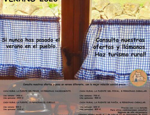 – Ofertas verano 2020. Casas rurales La Fuente.