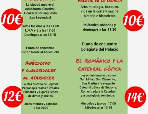 – Visitas guiadas en Segovia.