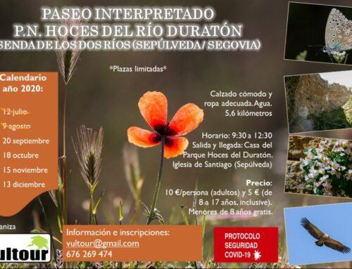 – Paseo interpretativo por el Parque Natural Hoces del Río Duratón.