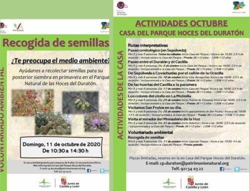 – Actividades en la Casa del Parque Hoces del Río Duratón.