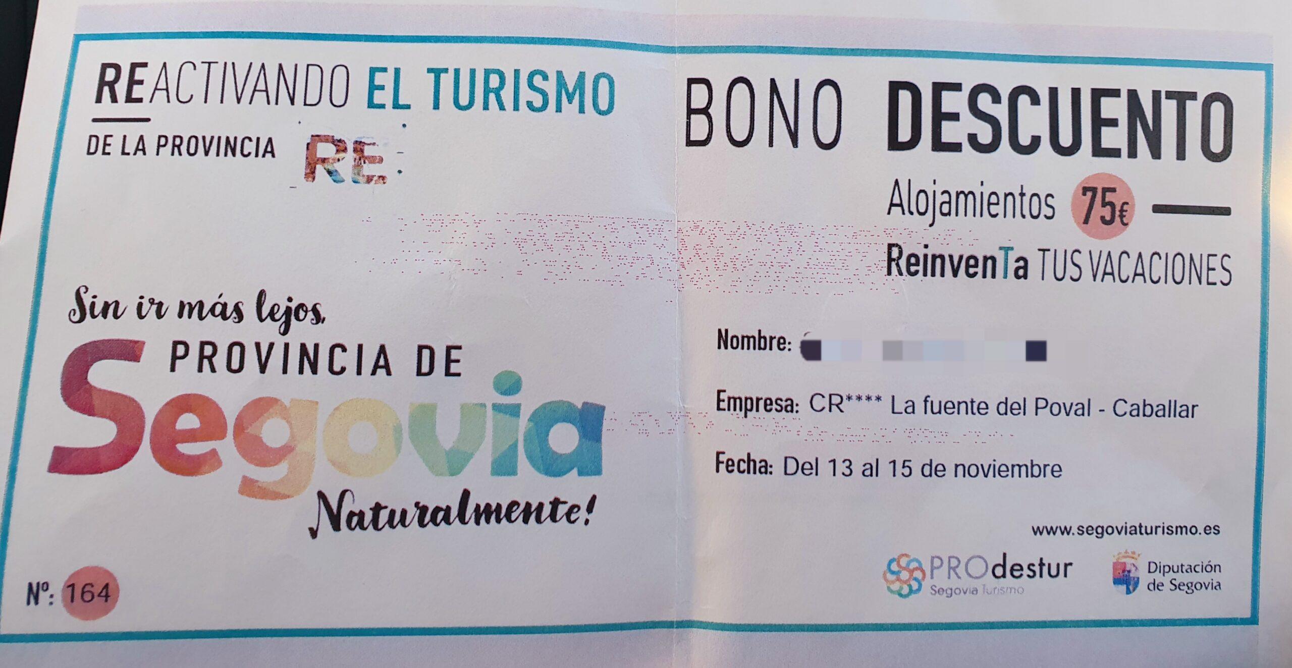 Bonos descuento Segovia