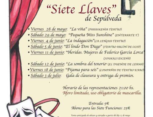 """– IX Certamen de Teatro Aficionado """"Siete Llaves"""" de Sepúlveda."""