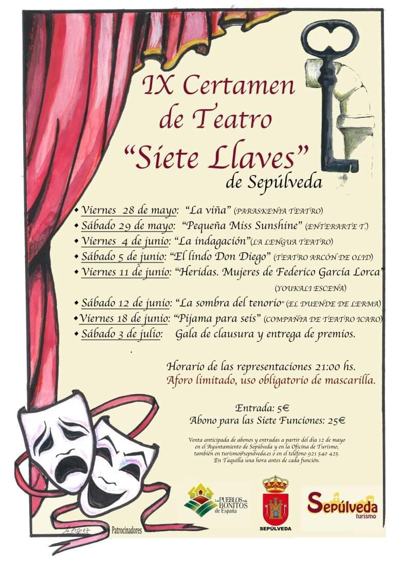 """IX Certamen de Teatro Aficionado """"Siete Llaves"""" de Sepúlveda"""