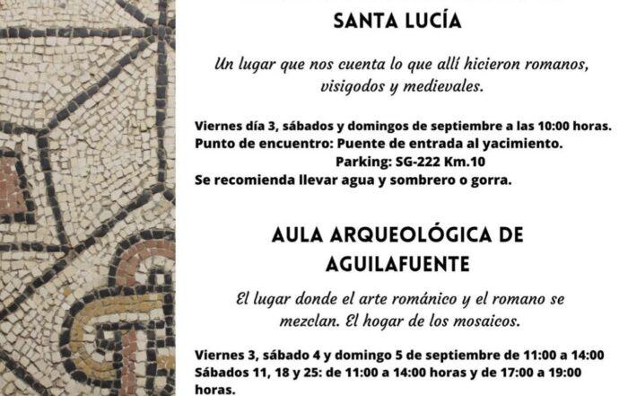 conoce mediante visitas guiadas el yacimiento arqueológico de Santa Lucía y el Aula Arqueológica de Aguilafuente